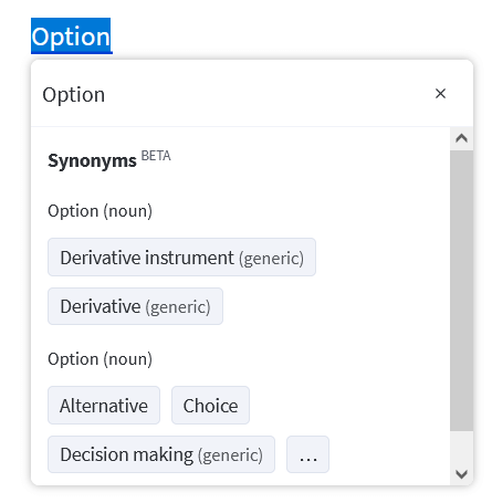 Find the best synonyms to every word with LanguageTool's thesaurus.